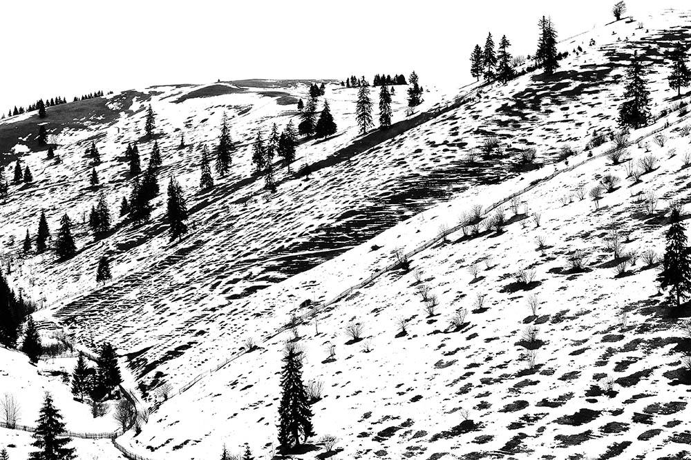 071.2.  Görbe György. Peisaj de iarna (Valea Ghimesului, jud. Harghita)